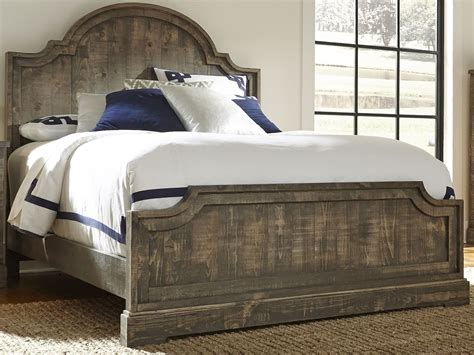 gray king bed meadow weathered gray king panel bed from progressive furniture coleman furniture