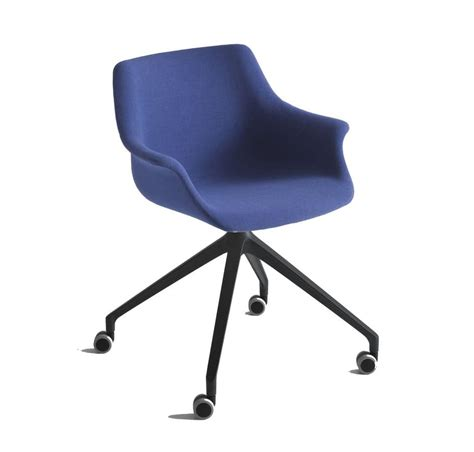 armchair with wheels upholstered armchair aluminum base with wheels idfdesign