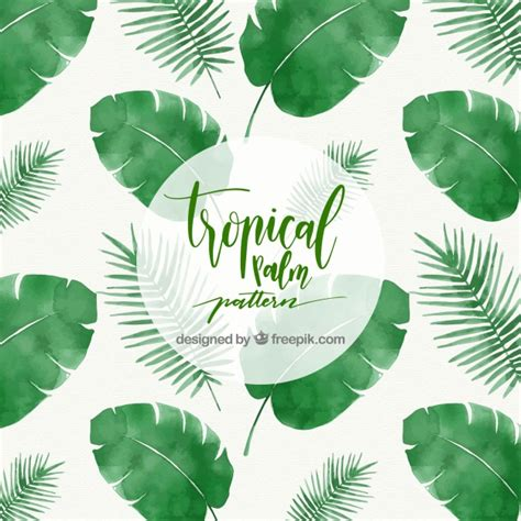 palm leaf pattern vector tropical palm leaf pattern vector free download