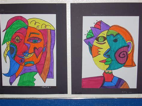 picasso paintings ppt bluemoonpalette split picasso faces 6th grade