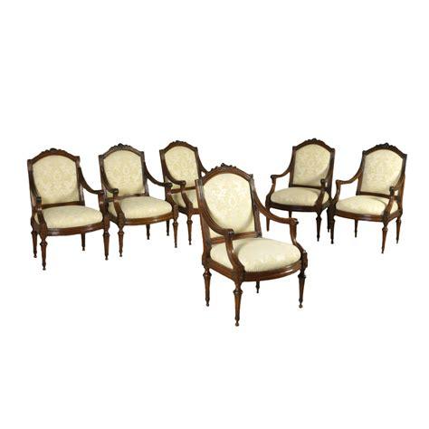 poltrona luigi gruppo di sei poltrone luigi xvi sedie poltrone divani