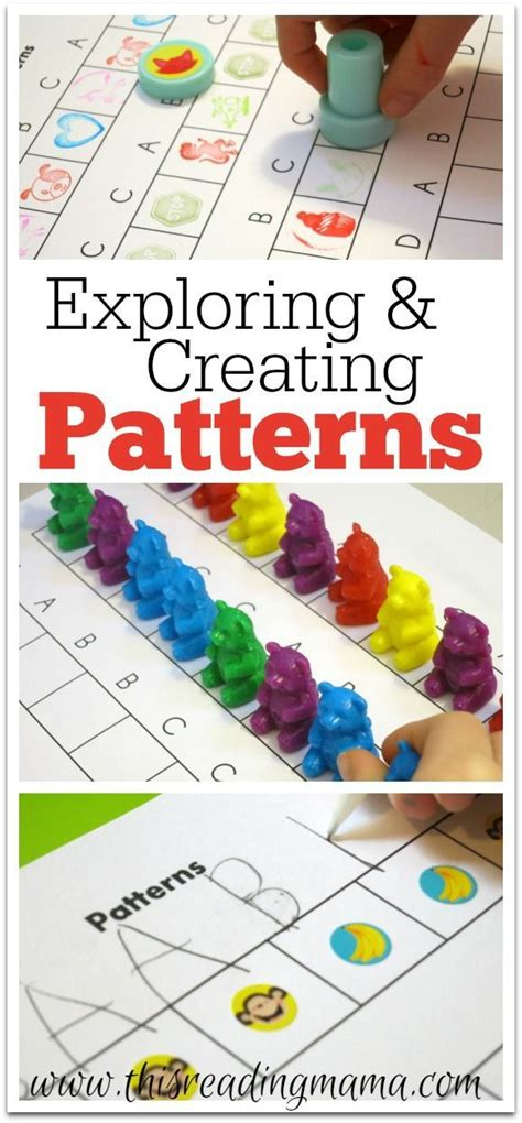 teaching pattern activities exploring and creating patterns free printable included