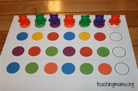 pattern games preschool hands on math activities for preschoolers