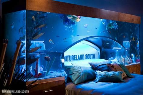 fish tank bed headboard cool water beds bedroom ideas pictures