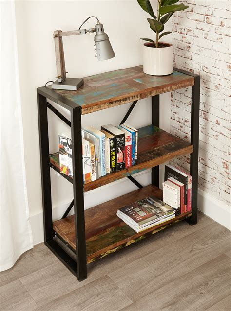 industrial chic low bookcase hshire furniture