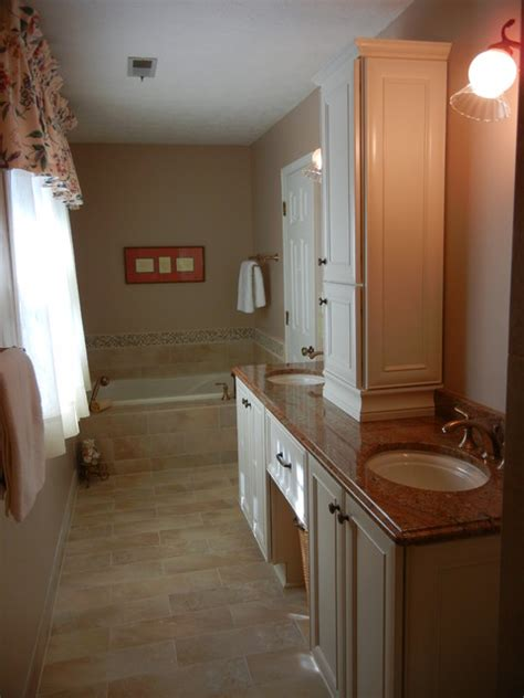 narrow master bathroom ideas narrow master bathroom remodel marietta ga 30062
