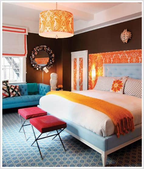 Color Psychology Decorating With Orange Blue Orange Split Bedroom Design