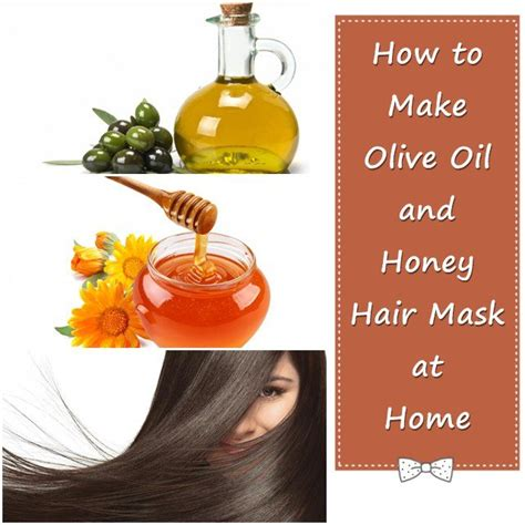 how to make olive and honey hair mask at home