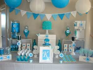 33 blue theme party candy table ideas
