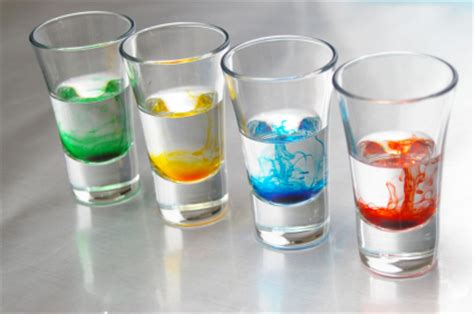 food coloring in water science fair