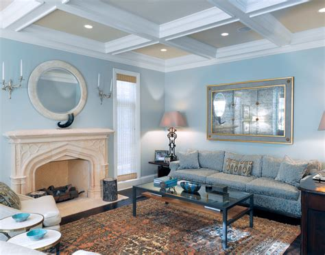 north shore living room blue walls home design