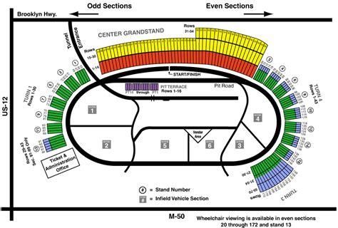 seating capacity motor speedway michigan international speedway mi seating