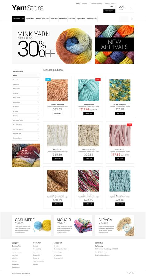 Yarn Store Prestashop Theme 48187 Yarn Shop Business Plan Template