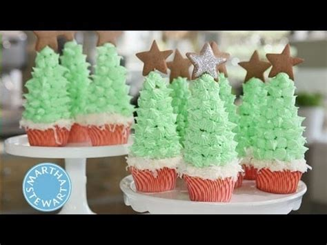 christmas cupcakes martha stewart youtube