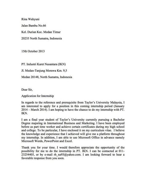 cover letter for internship malaysia cover letter for internship malaysia milviamaglione