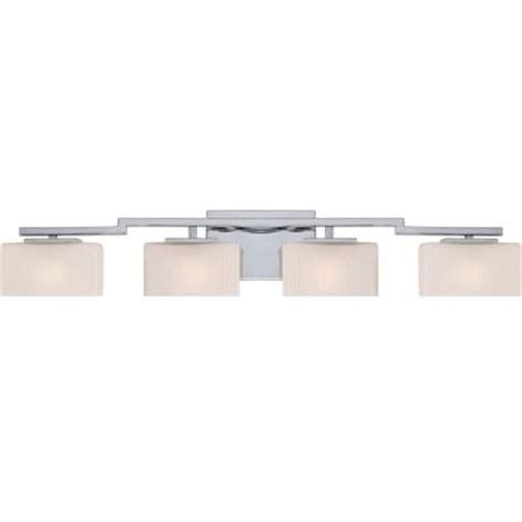 bathroom vanity lights home depot illumina direct dalea 4 light polished chrome bath vanity