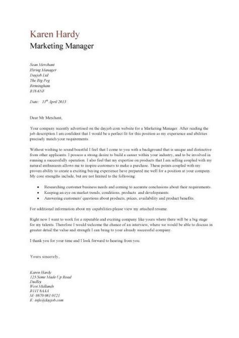 Marketing Manager Cover Letter by Sales Manager Cv Exle Free Cv Template Sales Management Sales Cv Marketing