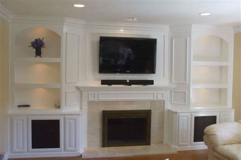 Built In Wall Units With Fireplace by Custom Entertainment Center Cabinets And Built In Wall Units