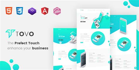 Tovo Angular 6 App Landing Page Download Tovo Angular 6 App Landing Page Nulled Angular Landing Page Template