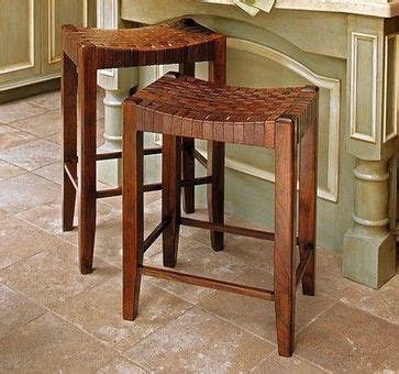 Napa Style Bar Stools by Woven Leather Stools Traditional Bar Stools And