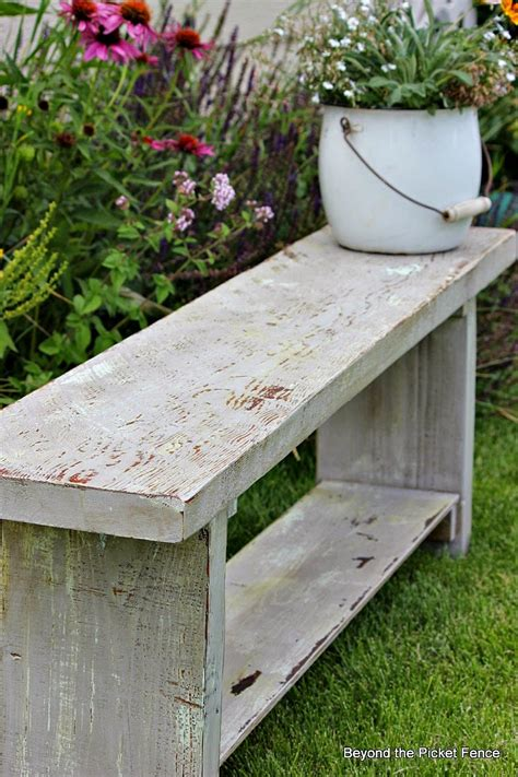 how to paint a wooden bench beyond the picket fence how to create an authentic