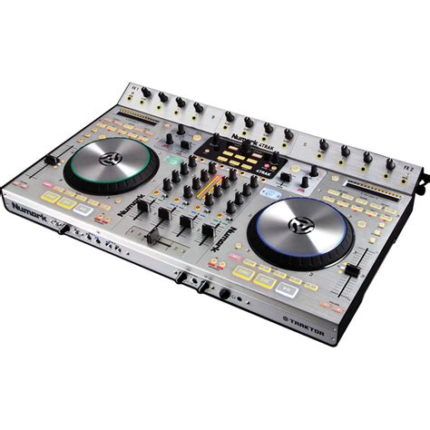 dj deck controller numark 4trak 4 deck dj controller and mixer for traktor dj 4
