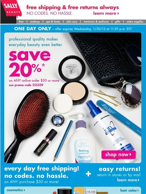 Big Savings At Beautycom Today Only by Sally Supply Today Only Shop And Save Big
