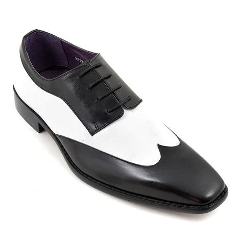 tuxedo shoes two tone spectator shoes black
