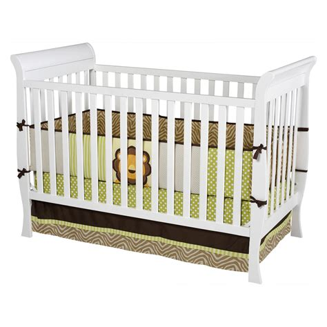 Baby Sleigh Crib Delta Children Glenwood 3 In 1 White Convertible White Cribs