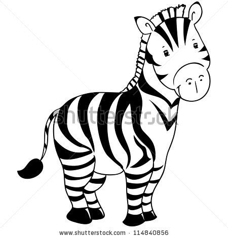 Zebra Outline Picture by Zebra Outline Clip 26