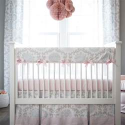 pink and gray rosa crib bedding pink and grey baby
