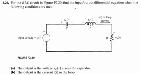 integrator circuit differential equation find the input output differential equations for t chegg