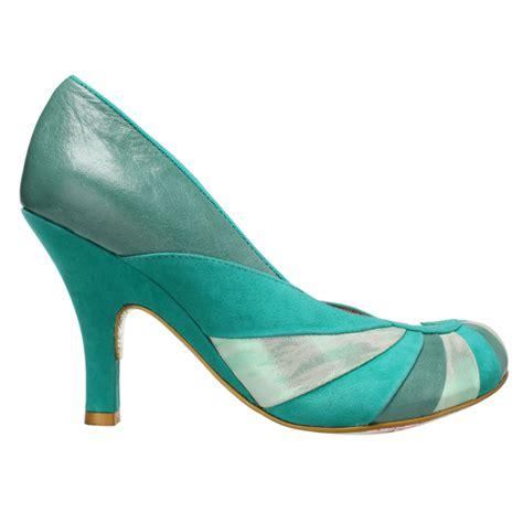 50s style high heels irregular choice bolshy green leather vintage 50s 60s