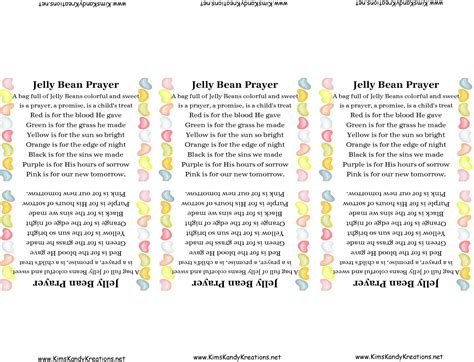 printable jelly bean name tags jelly bean prayer and printable everyday parties