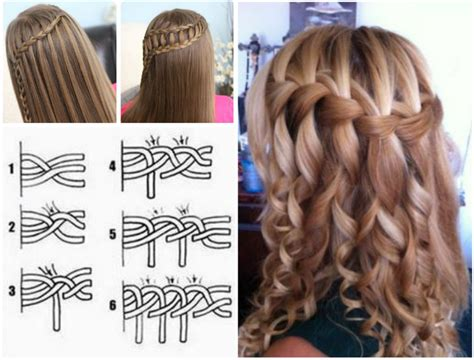 waterfalls cascade braids step by step wonderful diy waterfall braid hairstyle diy waterfall