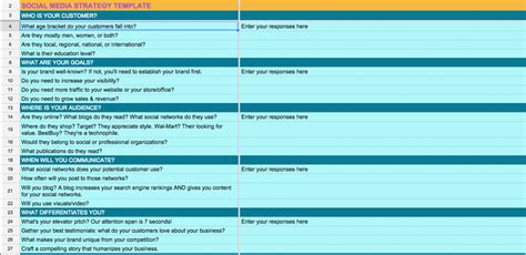 get your free social media strategy template amp spreadsheet
