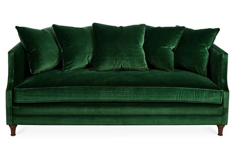 furniture astonishing green velvet sofa for home