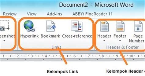 fungsi tab design pada header dan footer tools fungsi tab insert pada microsoft office tips komputer