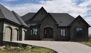color black roof house colors