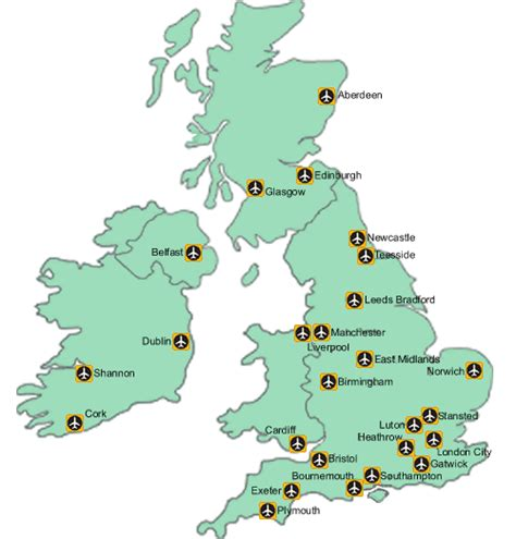 map uk airports uk airport map and links lancashire chauffeur driven car