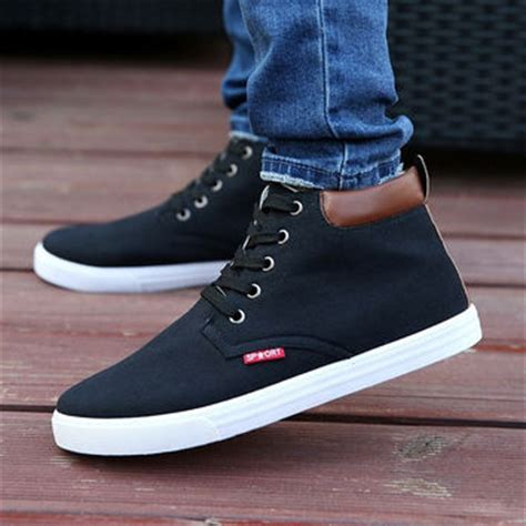 casual high top shoes canvas from dear deer fashion