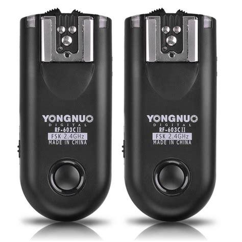 Yongnuo Rf 603 yongnuo rf 603 ii n1 rf603ii n1 wireless flash trigger 2 transceivers for nikon d800 d800e d3x