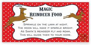 Car Wall Stickers For Nursery magic reindeer food adhesive tag labels