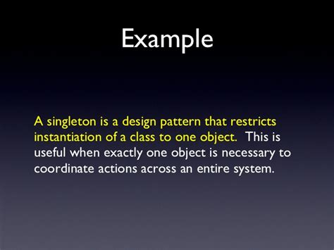 singleton pattern theory extended definitions