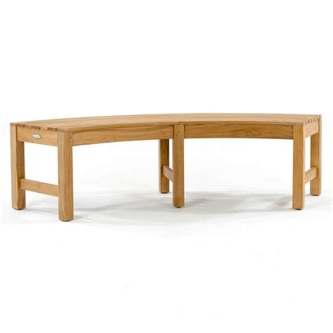 teak curved bench buckingham teak backless curved round bench westminster