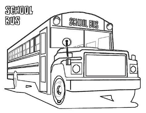 school bus coloring child coloring