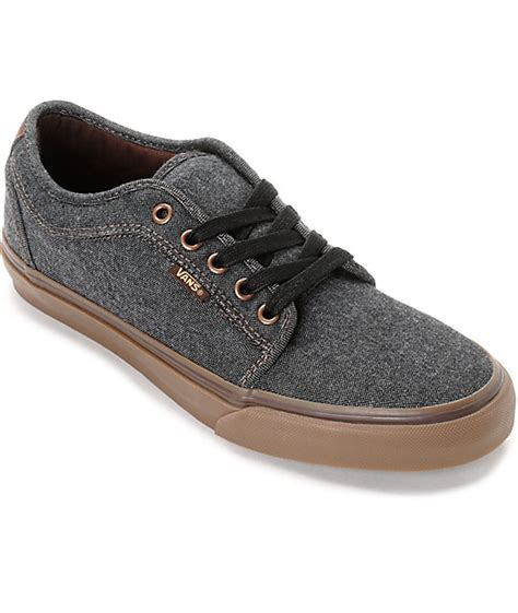 Vans Brownish Grey Shoes vans chukka low oxford black gum skate shoes zumiez