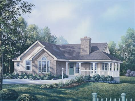 ranch house with wrap around porch house plans ranch house plans country house plans and