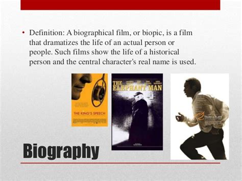 biography film definition biographical essays definition