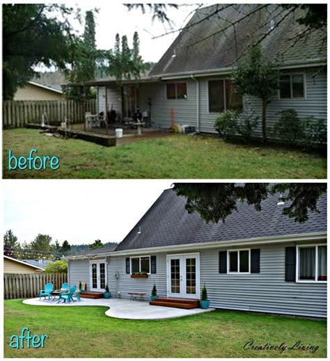 Backyard Renovations Before And After by Backyard Makeover The Big Reveal Creatively Living